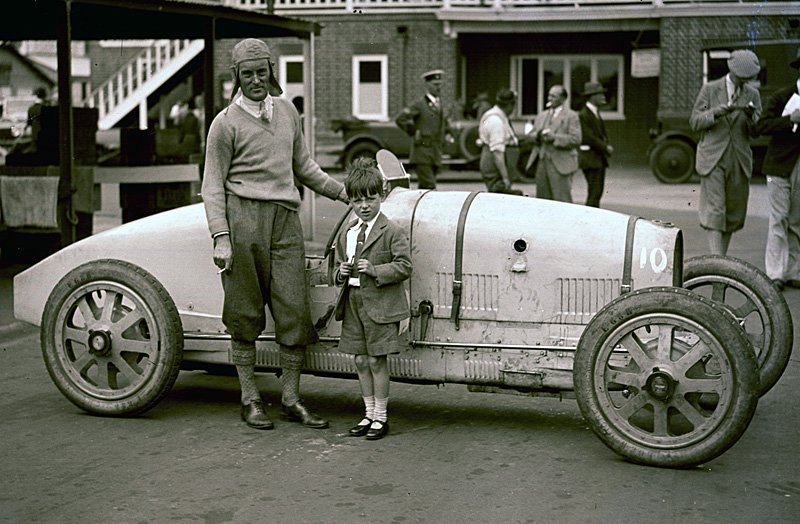 Malcolm Campbell Donald Campbell Brooklands Bugatti